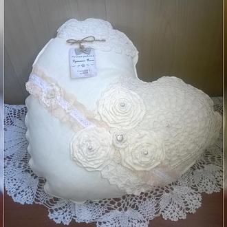 Декоративная подушка в стиле Шебби-шик