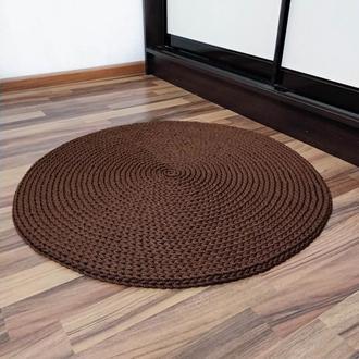 Круглый вязаный ковер из полиэфирного шнура