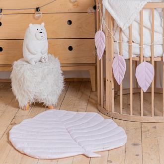 Коврик - листик для детской комнаты в розовом цвете Light Pink