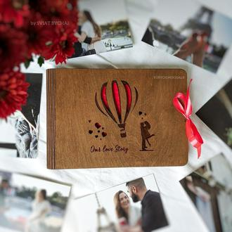 Фотоальбом из дерева - подарок на годовщину свадьбы, Новый год | альбом для фото