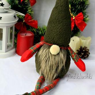 Игрушка гномик. Рождественский гном. Скандинавский гном. Гномик.