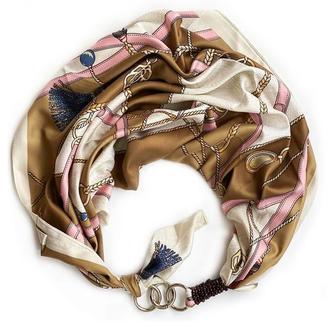 """Дизайнерский  платок  """"Королевский шик"""" от бренда my scarf, шейный платок, подарок женщине"""