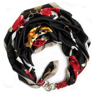 """Дизайнерский  платок   """"Танго в Париже"""" от бренда my scarf, шейный платок, подарок женщине"""