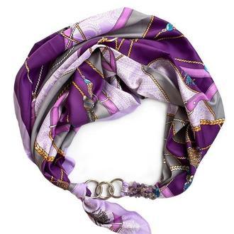 """Шелковый платок """"Вечерний Париж""""  от бренда my scarf, шейный платок, подарок женщине"""