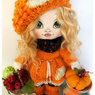 Текстильная кукла Рыжик