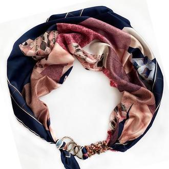 """Шелковый платок """" Горная нимфа"""" от бренда my scarf, шейный платок, подарок женщине"""