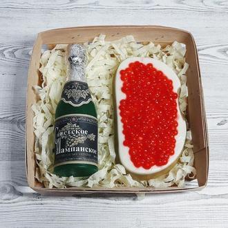 """Набор мыла """"Советское шампанское и бутерброд с красной икрой"""""""