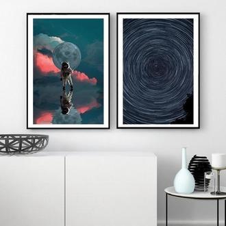 Комплект постеров Астронавт