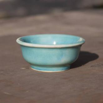 Соусник керамический голубой, бирюза, кракле ,