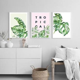 Комплект постеров Акварельные тропики