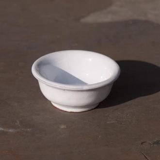 Соусник керамический белый, винтажный