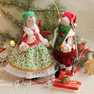 Рождественские зайцы-гномы