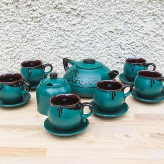 Чайный набор на 6 персон зеленый