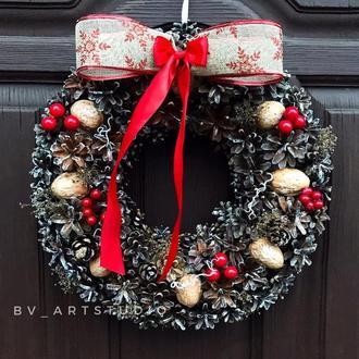 Новогодний рождественский венок різдвяний