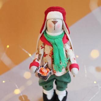 Зайчик Різдвяний з мандаринами