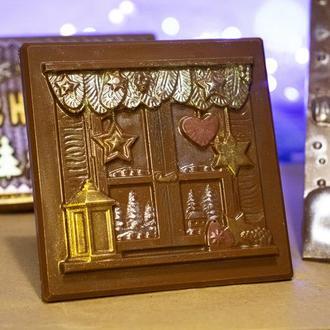 Шоколад - новогодняя открытка