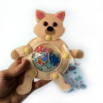 Развивающая игрушка из фетра. Котик