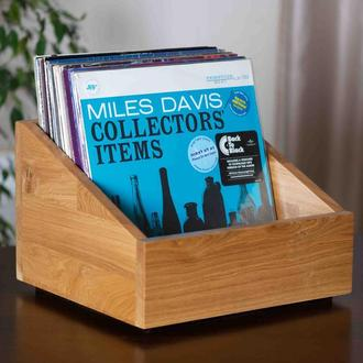 Дубовый ящик для пластинок Miles