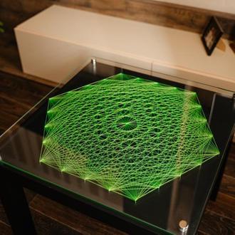 Журнальный столик в стиле string art