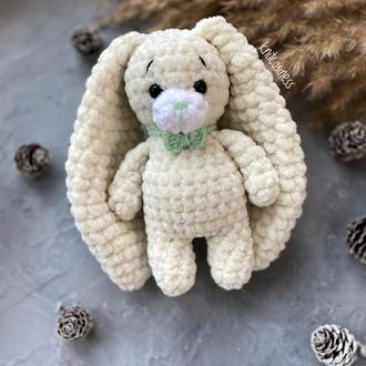 Зефирный зайка зайчик игрушка плюшевый девочке новорожденному малышу
