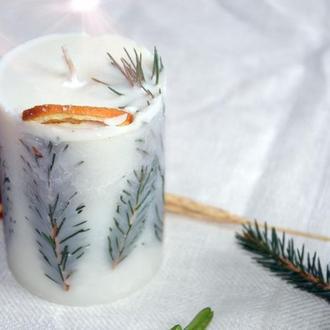 Новогодняя свеча из соевого воска | Новорічна свічка із соєвого воску