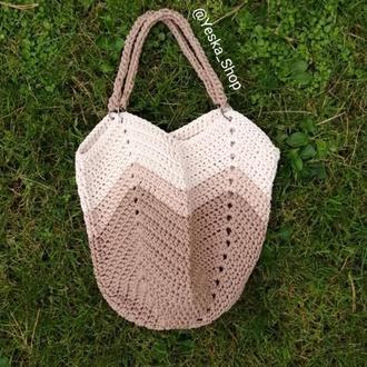 Сумка зигзаг, сумка Шоппер, вязанная сумка в наличии!