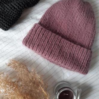 Шапка из пуха норки, пушистая шапка, шапка из ангоры