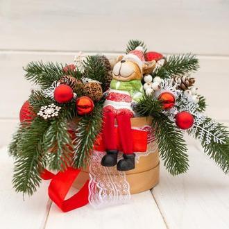 Новорічна композиція, сувенір, подарунок. Новогодняя композиция, подарок, сувенир. Композиция.