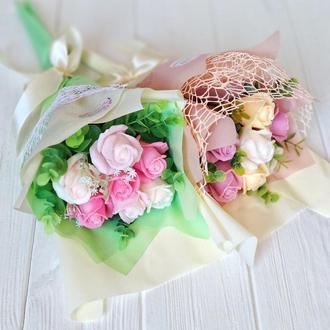 Букет из мыльных роз.