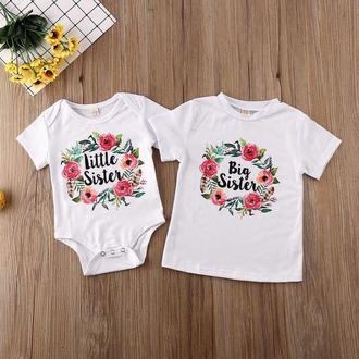 "ФП006020 Парні футболки з принтом ""Little sister. Big sister"" Push IT"