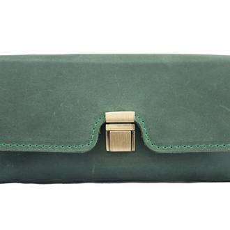 Оригинальный кошелек  из натуральной кожи. 08008/зеленый