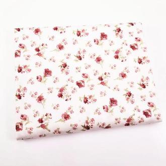 Ткань для рукоделия бордовые цветочки