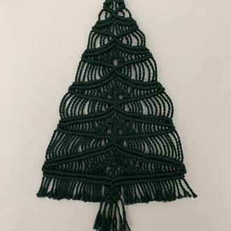 Новогодняя елка макраме