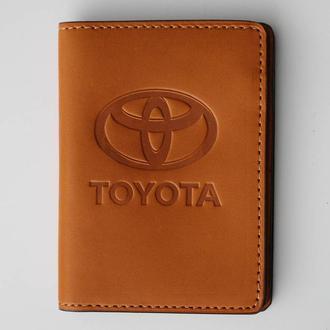 Обложка для прав Toyota желтая 5070