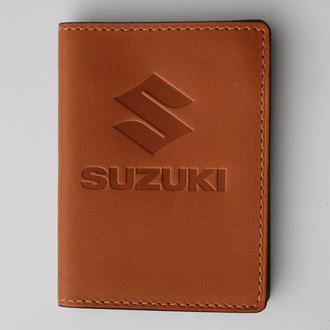 Обложка для прав Suzuki желтая 5070