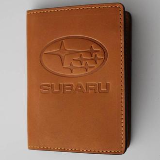 Обложка для прав Subaru желтая 5070
