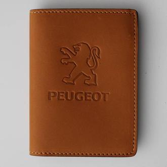 Обложка для прав Peugeot желтая 5070