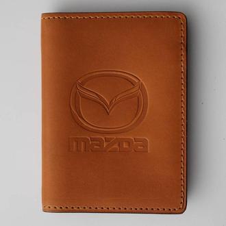Обложка для прав Mazda желтая 5070