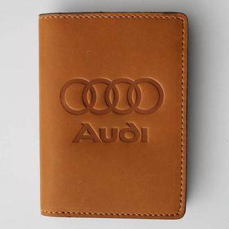 Обложка для прав Audi желтая 5070