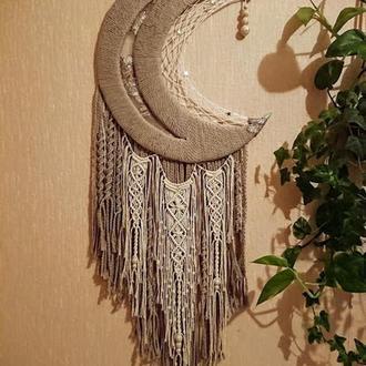 """Панно макраме """"Казковий місяць"""", ловець снів"""