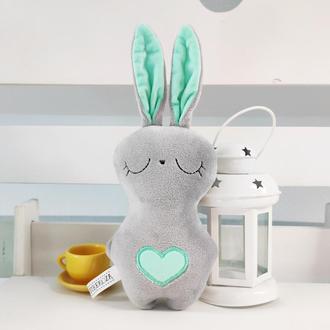 Мягкая игрушка Strekoza Заяц Засыпаяц 18см серый