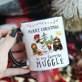 Новогодняя чашка Гарри Поттер