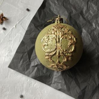 Новорічна ялинкова куля в вінтажному стилі, ручна робота