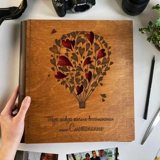 Фотоальбом с дерева | Подарок на свадьбу | FILWOOD | Альбом для фото