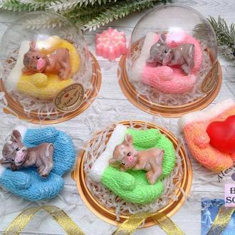 Мыло новогоднее ВАРЕЖКИ С БЫЧКОМ,  БЫЧОК символ 2021 года
