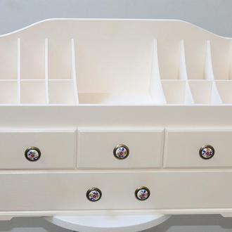 Комод для косметики на 4 ящика цвет слоновая кость