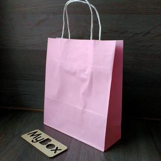 Розовый крафт пакет 240мм/200мм/80мм