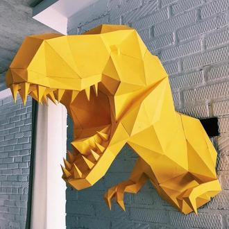 Наборы для создания 3д фигур Оригами Паперкрафт Бумажная модель Papercraft Динозавр