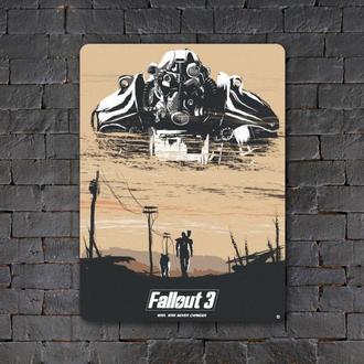 Постер (картина) табличка — Fallout 3