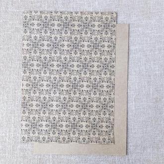 Дизайнерская бумага для скрапбукинга. Крафт А4. 1 шт